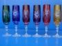 6 flutes couleur tulipe